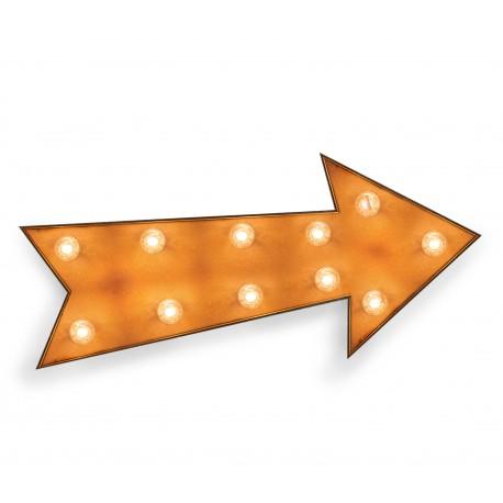 Flecha vintage con bombillas, iluminacion, Reallynicethings
