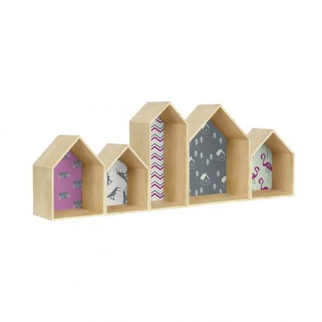House Bookcase Surdic, estanteria forma casa