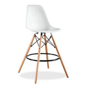 Taburete Wooden SuperStudio, replica Eames