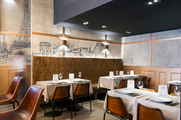Restaurante francés, Barcelona, Madeleine Mon Amour, brasserie